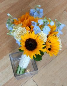 Sunflower & Delphinium